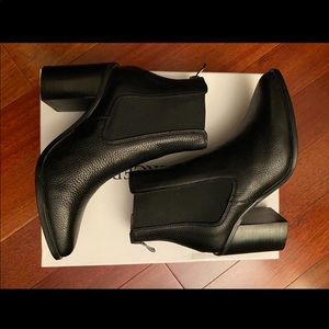 Jo Mercer Lover High Ankle Boots Black Leather